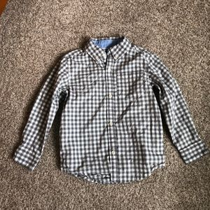 NWOT Carter's Gingham Plaid Button Up Shirt